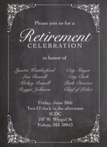 Fulton Officials Retirement Reception @ ICDC Board Room | Fulton | Mississippi | United States