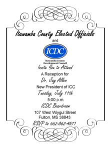 Dr. Jay Allen Welcome Reception @ ICDC Boardroom | Fulton | Mississippi | United States