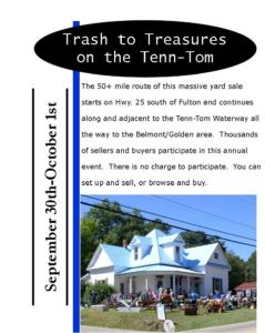 Trash to Treasures on the Tenn-Tom @ Hwy 25