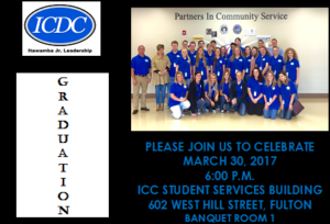 Itawamba Jr. Leadership Graduation @ ICC Student Services Building, Banquet Room 1   Fulton   Mississippi   United States