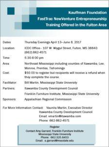 Entrepreneurship Workshop @ ICDC Boardroom   Fulton   Mississippi   United States