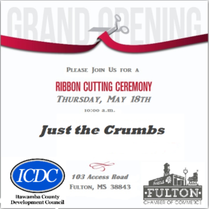 Grand Opening of Just the Crumbs @ Just The Crumbs | Fulton | Mississippi | United States