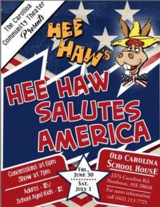 Hee Haw Salutes America @ Carolina Schoolhouse | Nettleton | Mississippi | United States