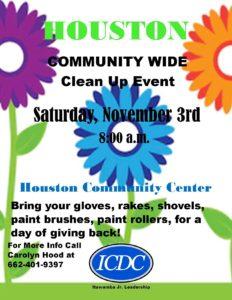 Houston Community Clean Up Day @ Houston Community Center