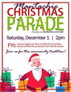 Mantachie Christmas Parade @ Line Up at Mantachie High School