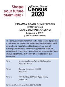 Census Organizing Meeting @ Itawamba County Development Council