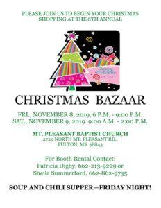 Mt. Pleasant Christmas Bazaar @ Mt. Pleasant Church