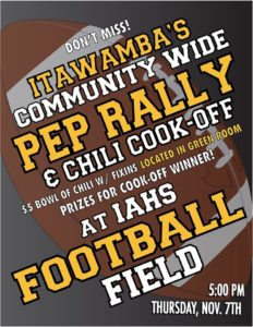 Itawamba's Community Wide Pep Rally and Chili Cookoff @ IAHS football field