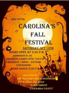 Carolina RCDC Fall Festival @ The Old Carolina Schoolhouse