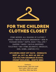 For the Children Clothes Closet @ The Old Fulton Grammar School
