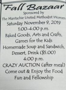Fall Bazaar @ Mantachie United Methodist Church