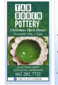 Christmas Open House @ Tab Boren Pottery