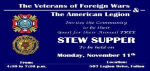 Veterans Stew Supper @ American Legion