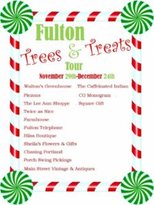 Fulton Trees and Treats Tour Event @ City of Fulton