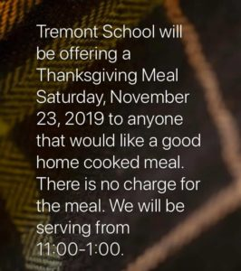 Thanksgiving Meal @ Tremont High School