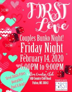 FIRST Love Couples Bunko Night @ City of Fulton