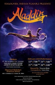 The Itawamba Indian Players Presents: Aladdin Jr. @ Historical Old Fulton Grammar School