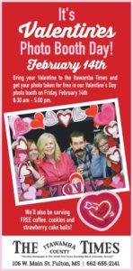 Valentine's Photo Booth Day @ The Itawamba County Times
