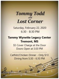 Tommy Todd and Lost Corner @ Tammy Wynette Legacy Center